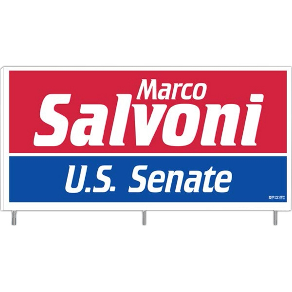 Personalized Corrugated Plastic Signs Four Piece Set - Sign And Rods