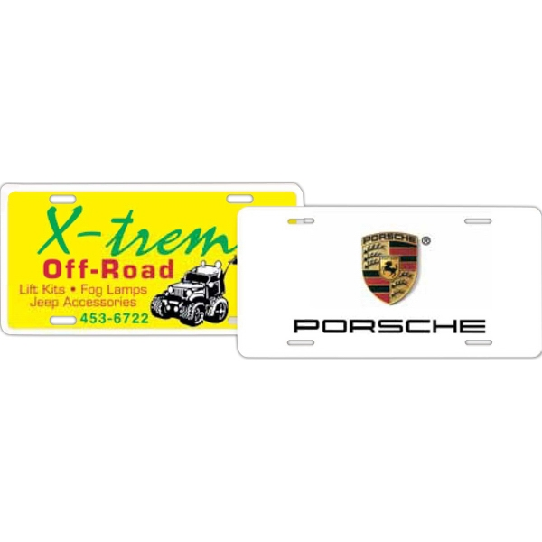 Personalized License Plate Auto Card