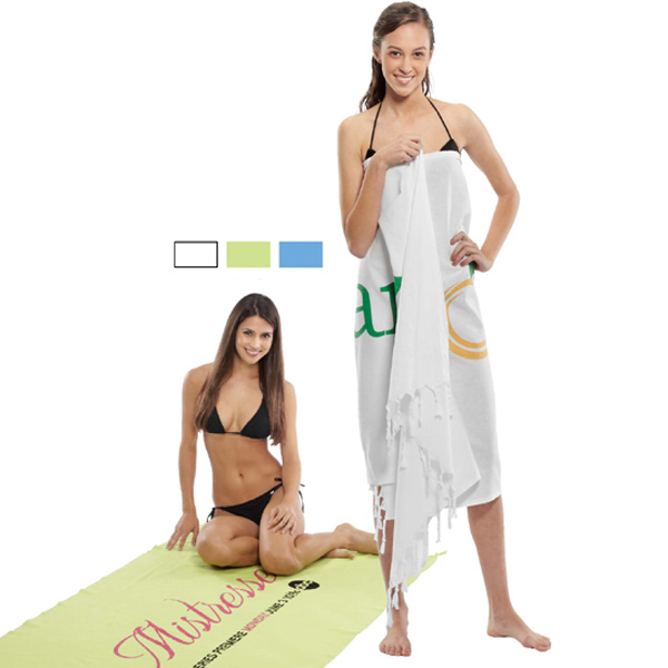 Customized Fringed Turkish Linen Beach Towel