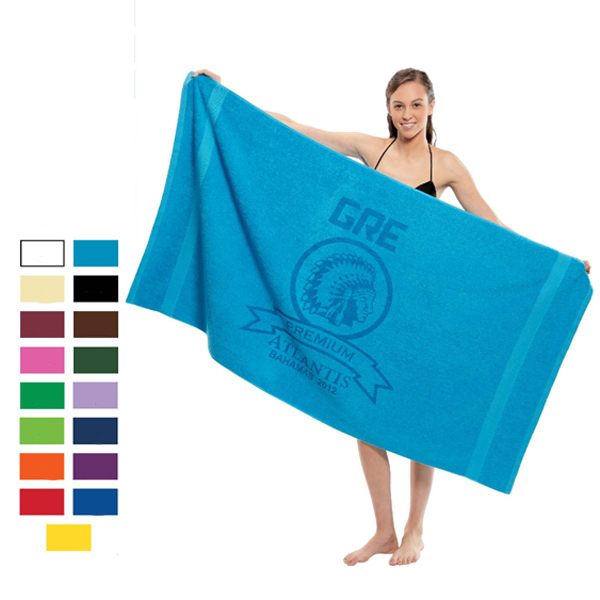 Promotional King Size Dobby Hem Terry Beach Towels