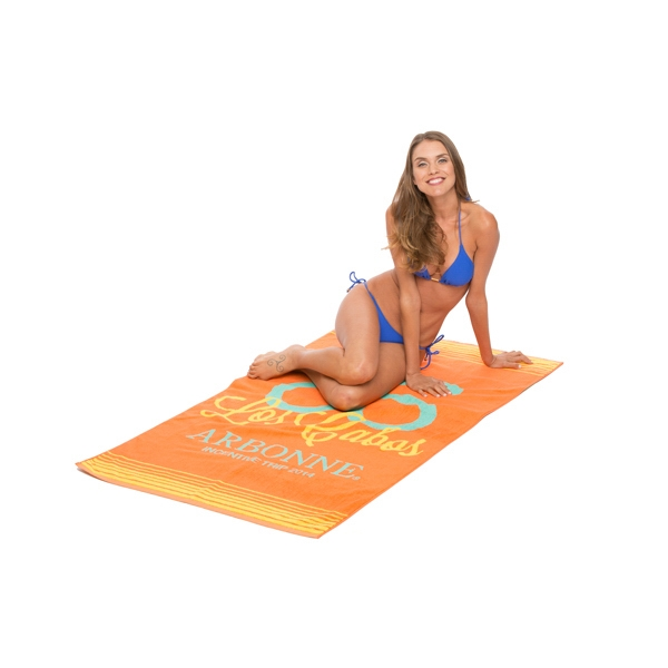 Personalized Custom Jacquard Loop Terry Beach Towel
