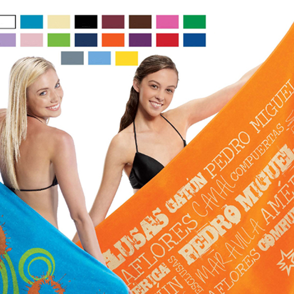 Promotional Premium Velour Beach Towels