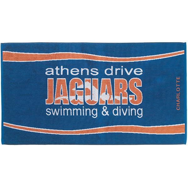 Personalized Custom Jacquard Terry Velour Beach Towels