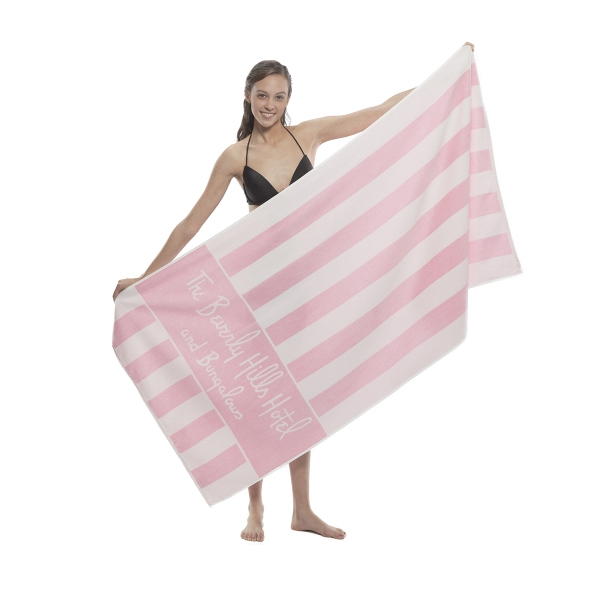 Printed Custom Jacquard Terry Velour Beach Towels