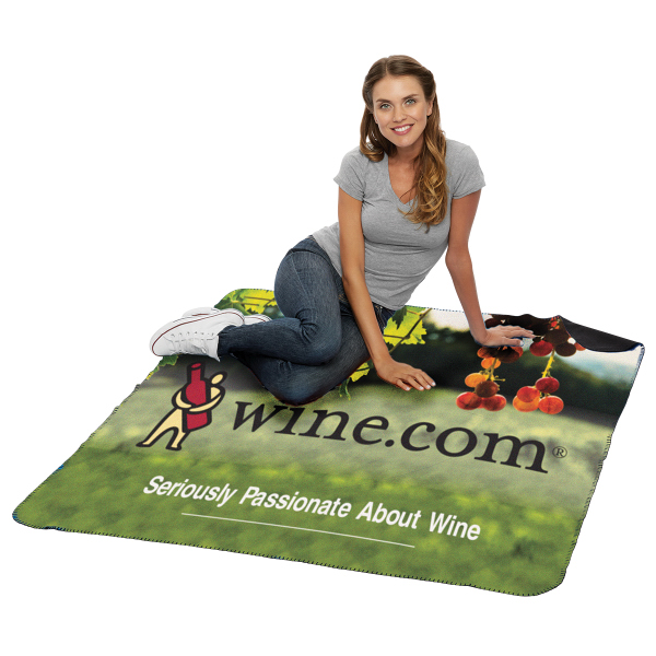 Custom Double Layer Polar Fleece Blanket