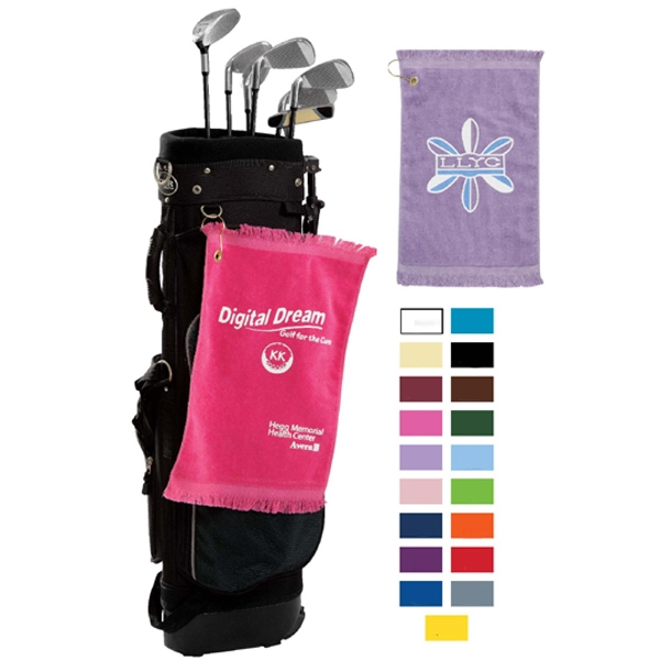 Personalized Premium Fringed Velour Golf Towels