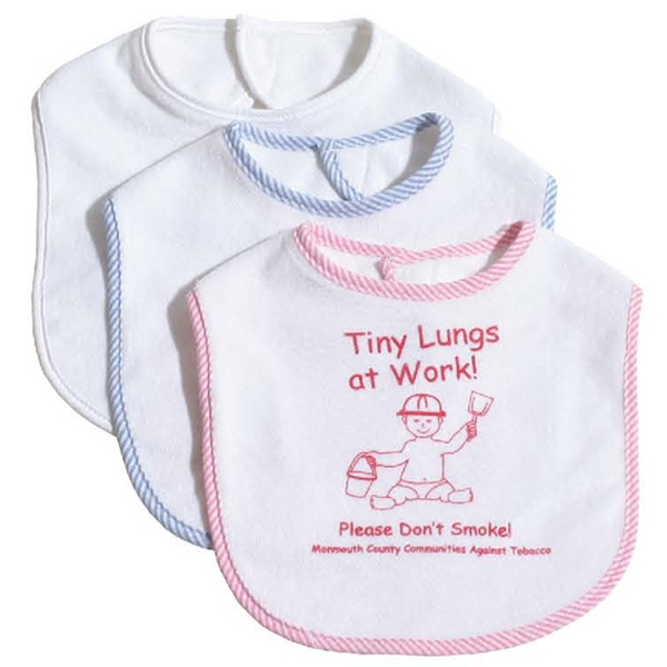 Customized Knit Terry Baby Bib