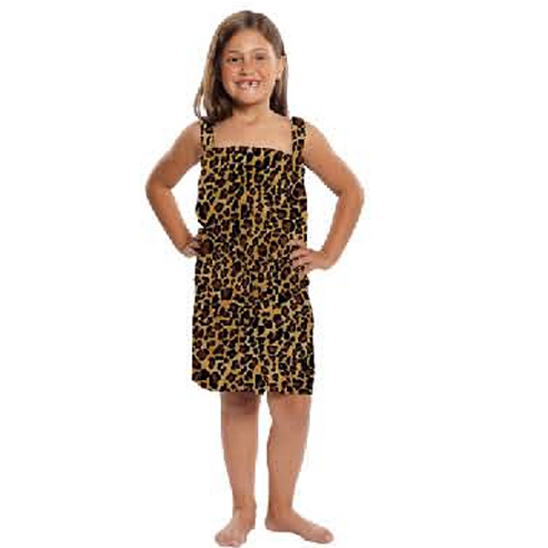 Promotional Kid's Terry Velour Leopard Print Body Wrap