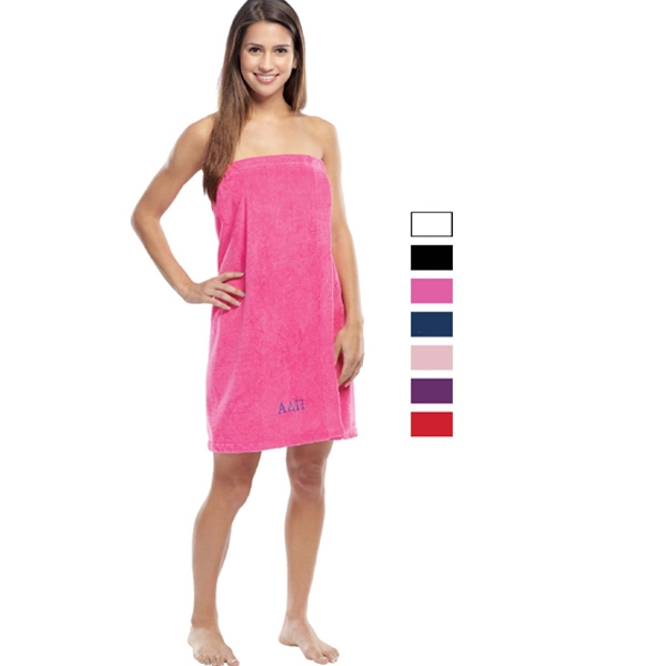 Printed Women's Terry Velour Spa Wrap