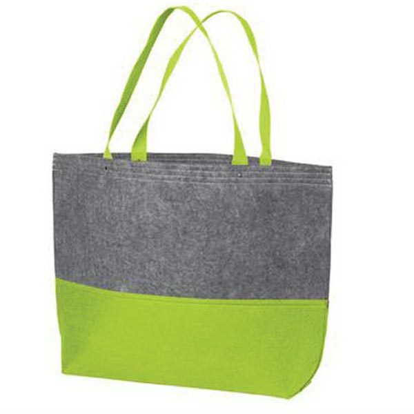 Printed Port Authority Large Felt Tote