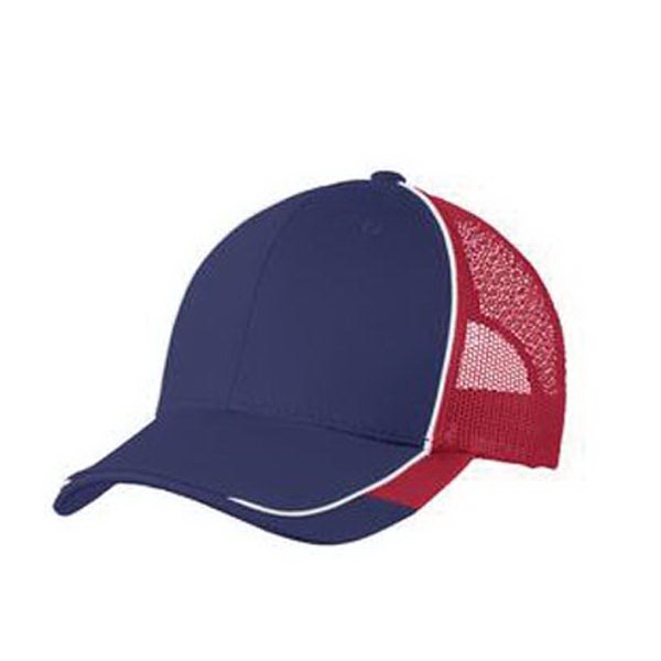 Printed Port Authority Colorblock Mesh Back Cap