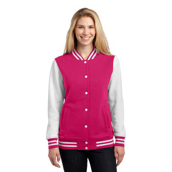 Personalized Sport-Tek Ladies Fleece Letterman Jacket
