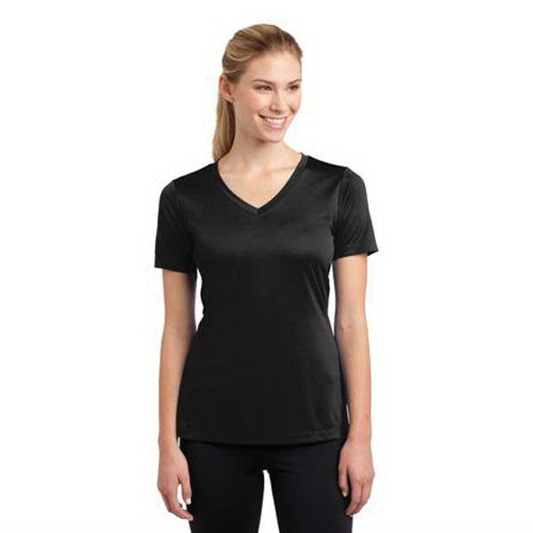 Personalized Sport-Tek-Ladies V-Neck Competitor Tee