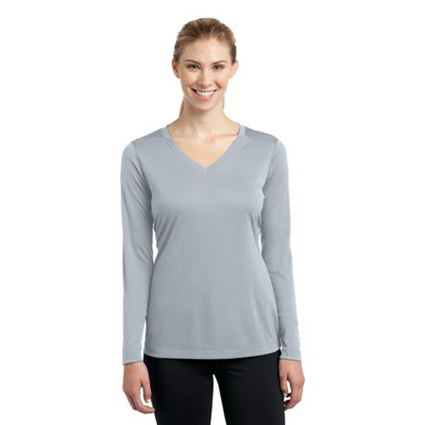 Customized Sport-Tek-Ladies Long Sleeve V-Neck Competitor Tee