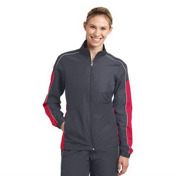 Printed Sport-Tek Ladies Colorblock Wind Jacket