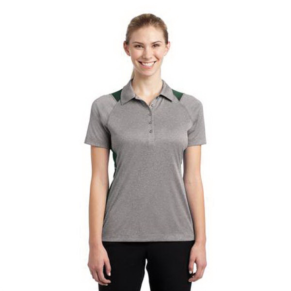 Imprinted Sport-Tek Ladies Heather Colorblock Contender Polo