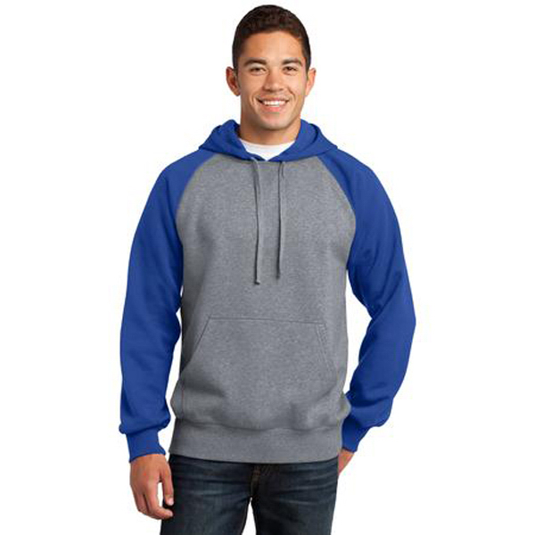 Custom Sport-Tek Raglan Colorblock Pullover Hooded Sweathshirt