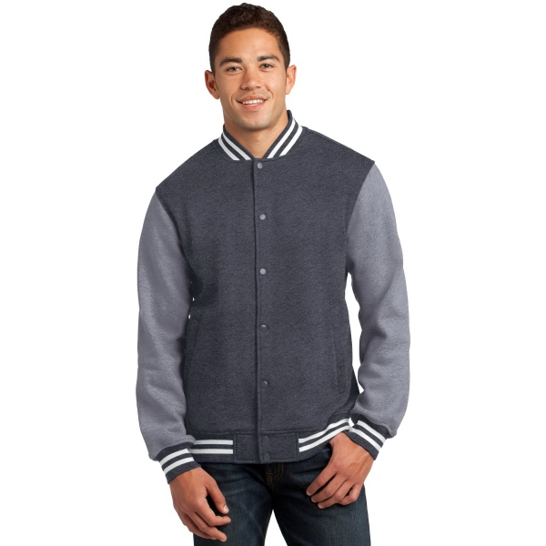 Customized Sport-Tek Fleece Letterman Jacket