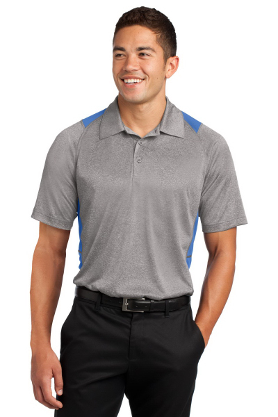 Customized Sport-Tek Heather Colorblock Contender Polo
