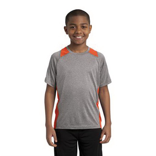 Customized Sport-Tek Youth Heather Colorblock Contender Tee