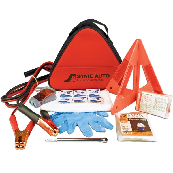 Personalized Deluxe Triangle Safety Kit