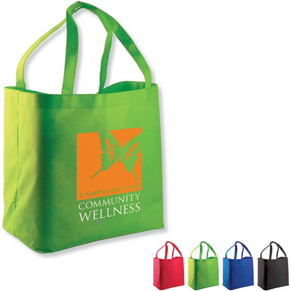 Imprinted The Shopper Non-Woven Shopping Tote