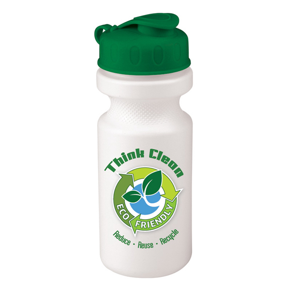 Promotional 21 oz Eco-Cycle Bottle with Flip-Top Lid
