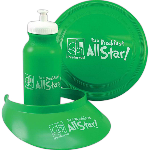 Personalized Summer Fun Kit Flyer, Visor and Bottle Fun Kit