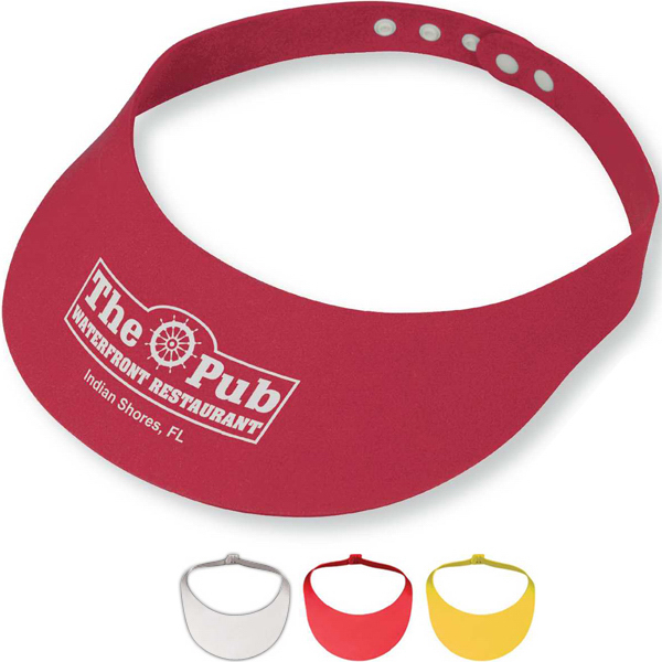 Imprinted Snap Foam Sun Visor