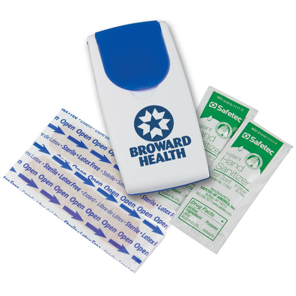 Promotional Grab N' Go Sanitizer Flip-Top Safety Kit