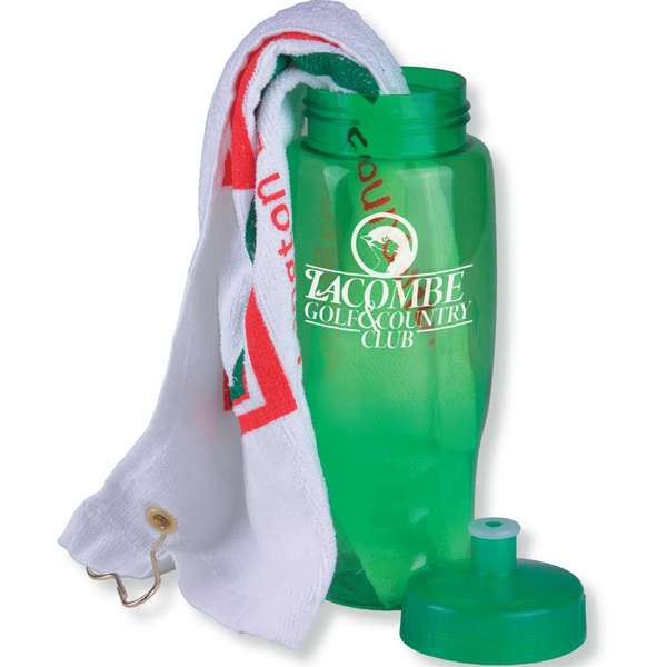 Personalized Golf Towel in a Bottle