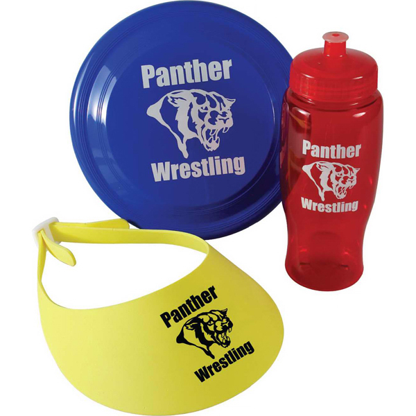 Custom Fun-In-The-Park Kit, Bottle, Flyer and Visor