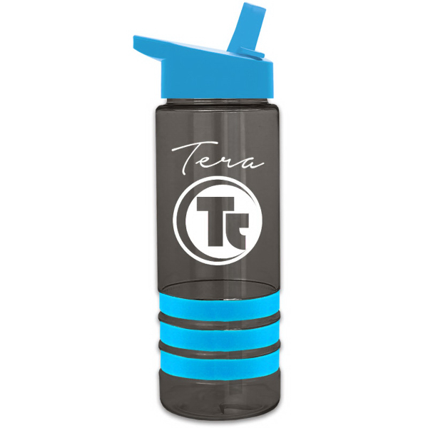 Promotional Sergeant Stripe 24 oz Tritan (TM) Bottle with Grip Stripes