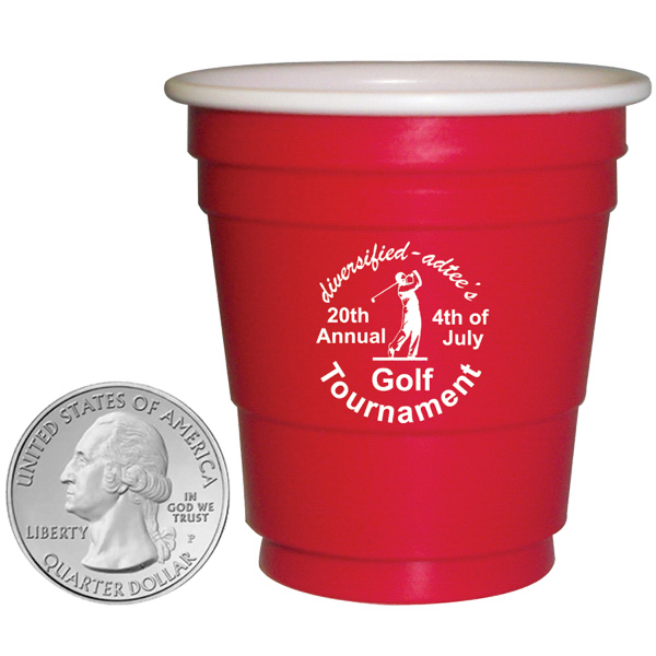 Promotional PL-4000 Mini Red Party Cup - Shot Glass