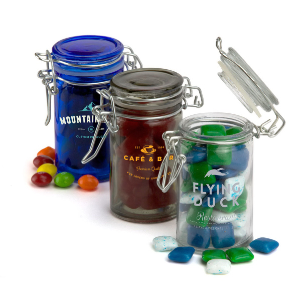 Customized Round Glass Candy Jar