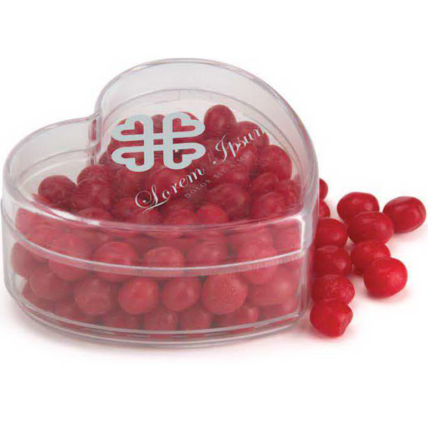 Imprinted Heart Shaped Plastic Container