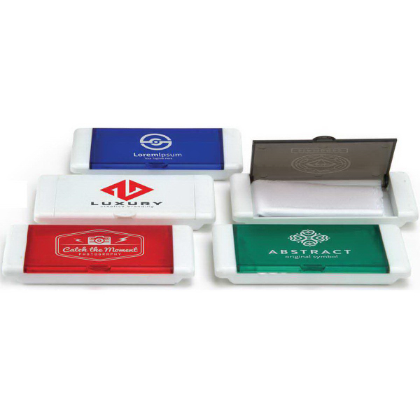 Customized Microfiber Cloth in Plastic Case