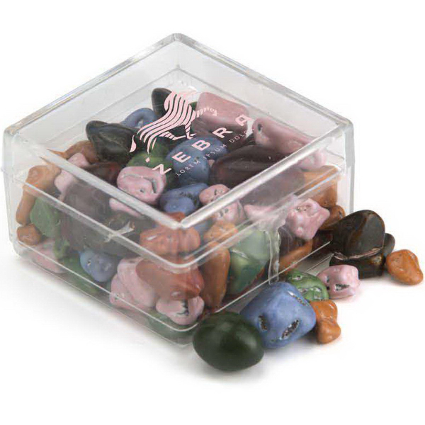 Personalized Square Plastic Candy Container