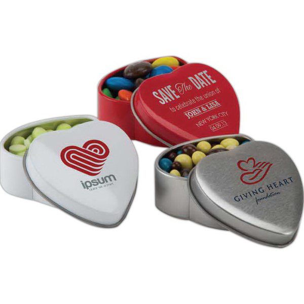 Printed Small Heart Shaped Tin