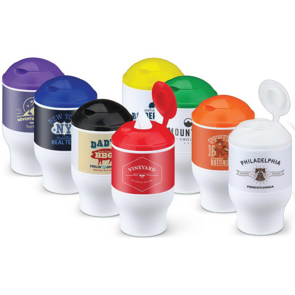 Printed Cup Holder Wet Wipes
