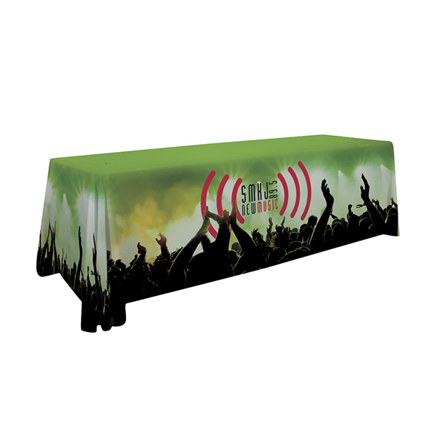 Imprinted Premium Table Throw Full Bleed Dye Sublimation