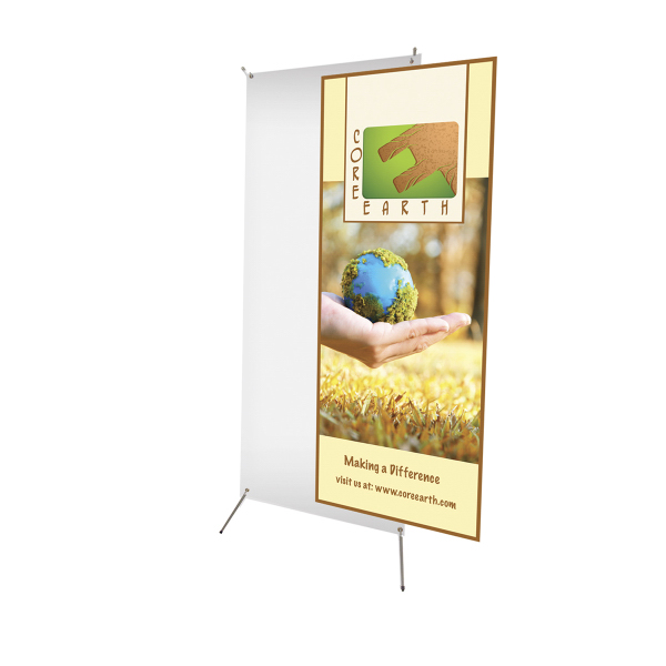 """Custom Tripod Banner Display 24"""" x 60"""" Graphic Only"""