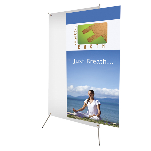 "Imprinted Tripod Banner Display 32"" x 72"" Graphic Only"