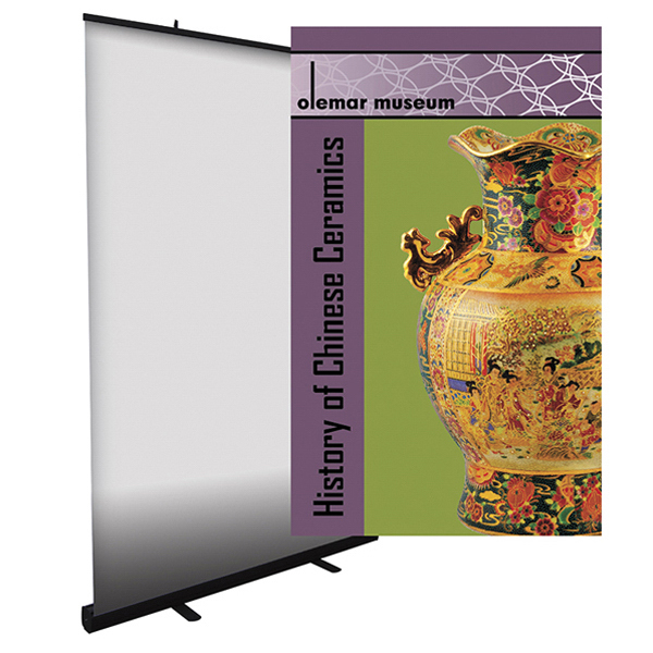 Imprinted 48-inch Economy Retractor Graphic Only