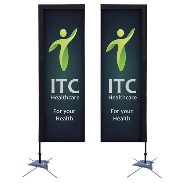 Promotional Quick Ship Rectangular Sail Sign