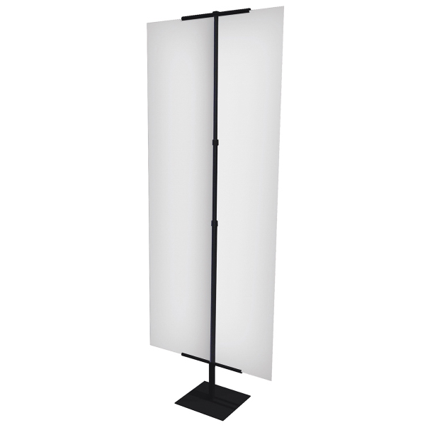 Personalized Everyday Banner Display Hardware Only - Black
