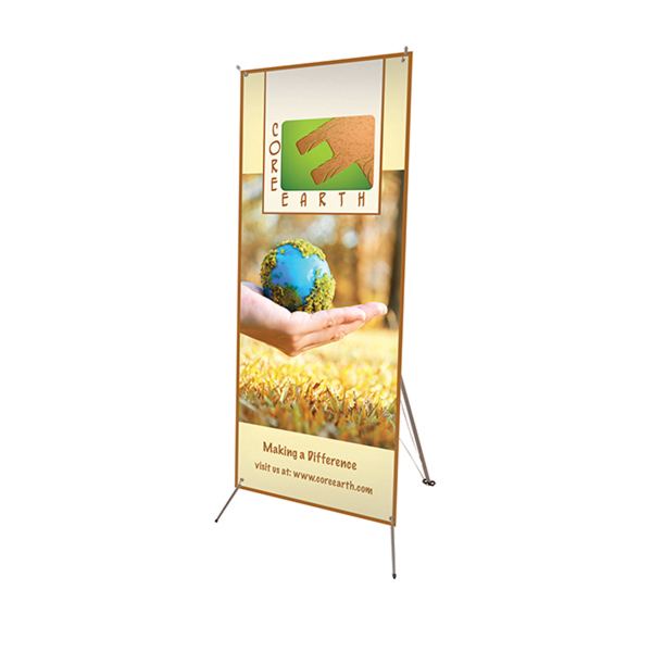 "Custom Tripod Banner 24"" x 60"" Display Kit"