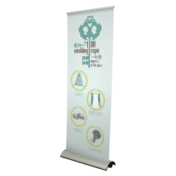 "Imprinted Tripod Banner Display 24"" x 60"" Hardware Only"