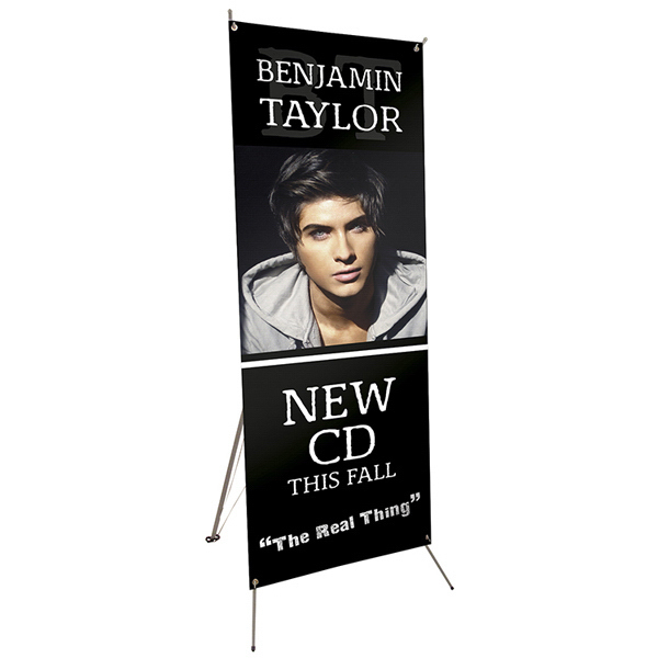 "Custom Tripod Banner 24"" x 48"" Display Kit"