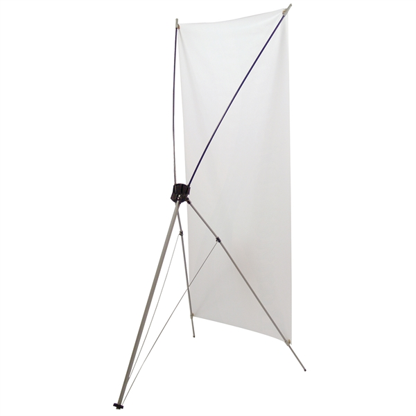 "Personalized Tripod Banner Display 24"" x 48"" Hardware Only"